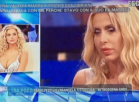 """Pomeriggio Cinque – Francesca Cipriani e la lite con Valeria Marini: """"Ha gridato come una pazza!"""""""