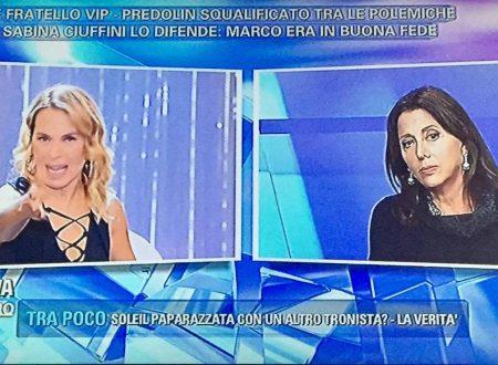 Pomeriggio Cinque – Caso Predolin: Barbara d'Urso bacchetta Sabina Ciuffini, che invece attacca Signorini!