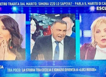 """Domenica Live – L'ex di Carmen Di Pietro: """"È vero! Simona Izzo sapeva del mio tradimento!"""""""